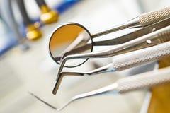Herramientas dentales Imagen de archivo libre de regalías