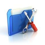 Herramientas e icono de las configuraciones Imagen de archivo libre de regalías