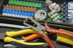 Herramientas eléctricas Imagen de archivo libre de regalías