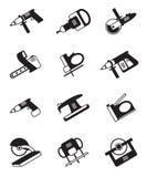 Herramientas eléctricas para la construcción Fotos de archivo libres de regalías