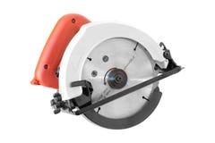 Herramientas eléctricas, sierra de la circular en blanco Fotos de archivo