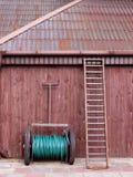 Herramientas en la granja Foto de archivo libre de regalías