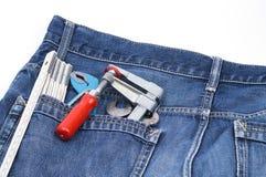 Herramientas en un bolsillo Imágenes de archivo libres de regalías