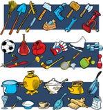 Herramientas, equipo de deportes, utensilios Imagen de archivo libre de regalías