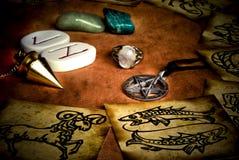 Herramientas esotéricas Imágenes de archivo libres de regalías