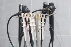 Herramientas médicas de la endoscopia Imagenes de archivo