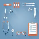 Herramientas médicas del fondo Imagen de archivo