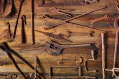 Herramientas oxidadas Imágenes de archivo libres de regalías