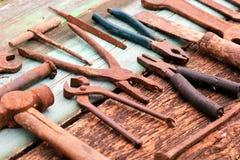 Herramientas oxidadas del viejo vintage Foto de archivo