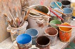 Herramientas para el adornamiento de cerámica Fotografía de archivo
