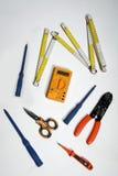 Herramientas para el electricista Imagen de archivo libre de regalías