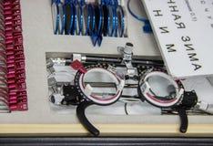 Herramientas para el oftalmólogo Imágenes de archivo libres de regalías
