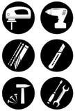 Herramientas para el trabajo casero Imagen de archivo libre de regalías