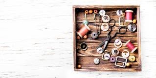 Herramientas para la costura Imagen de archivo libre de regalías