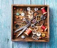 Herramientas para la costura Imagen de archivo