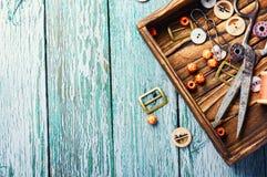 Herramientas para la costura Fotografía de archivo libre de regalías