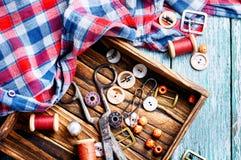 Herramientas para la costura Fotos de archivo