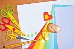 Herramientas para la creatividad de los niños Imágenes de archivo libres de regalías
