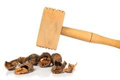 Herramientas para limpiar de nueces Foto de archivo libre de regalías