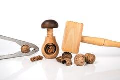 Herramientas para limpiar de nueces Fotografía de archivo