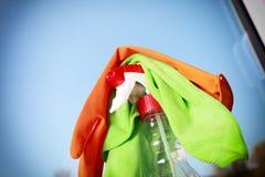 Herramientas para limpiar ventanas Fotografía de archivo libre de regalías