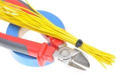 Herramientas para los electricistas para las instalaciones eléctricas Imagen de archivo libre de regalías
