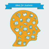 Herramientas populares de los iconos para los encargados de redes sociales Imágenes de archivo libres de regalías