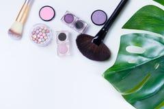 Herramientas profesionales del maquillaje Imagen de archivo libre de regalías