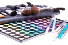 Herramientas profesionales del maquillaje Foto de archivo libre de regalías