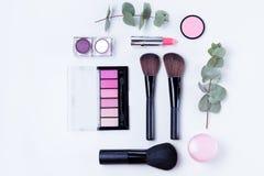 Herramientas profesionales del maquillaje Imágenes de archivo libres de regalías
