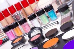 Herramientas profesionales del maquillaje Fotografía de archivo libre de regalías