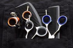 Herramientas profesionales del peluquero Imágenes de archivo libres de regalías