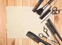Herramientas profesionales del peluquero Fotos de archivo libres de regalías