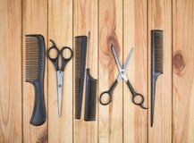 Herramientas profesionales del peluquero Imagenes de archivo