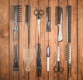 Herramientas profesionales del peluquero Imagen de archivo