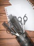 Herramientas profesionales del peluquero Foto de archivo libre de regalías