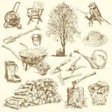 Herramientas que cultivan un huerto Imagen de archivo