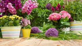 Herramientas que cultivan un huerto en el jardín Imagen de archivo