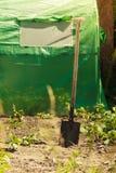 Herramientas que cultivan un huerto en el jardín del verano - pala Imagen de archivo libre de regalías