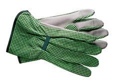 Herramientas que cultivan un huerto: guantes Imagen de archivo libre de regalías