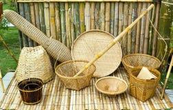 Herramientas tailandesas del estilo del bambú Fotografía de archivo libre de regalías