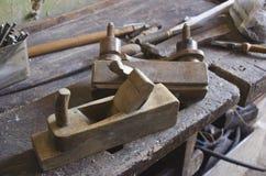 Herramientas viejas de la carpintería Foto de archivo