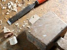 Herramientas viejas de la carpintería Imagen de archivo