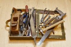 Herramientas viejas del metal Imágenes de archivo libres de regalías