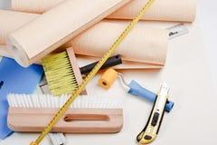 Herramientas Wallpapering Foto de archivo libre de regalías