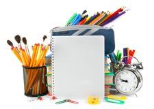Herramientas y accesorios de la escuela Imagenes de archivo