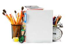 Herramientas y accesorios de la escuela Foto de archivo