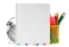 Herramientas y accesorios de la escuela Fotos de archivo