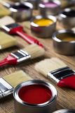 Herramientas y accesorios de la pintura Fotos de archivo