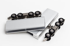 Herramientas y accesorios de las puertas Fotos de archivo